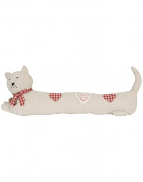 door snake CAT white/red 75x23x15 cm