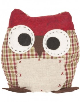 door stopper CRAZY OWL red