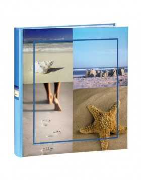 holiday photo album Sea Shells blue 29x32 cm