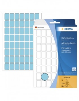 Multi-purpose labels 12x18mm blue 1792 pcs.