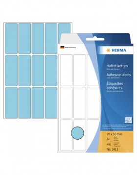 Multi-purpose labels 20x50 blue 480 pcs.