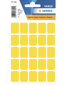 Multi-purpose labels 15x20mm yellow 125 pcs.