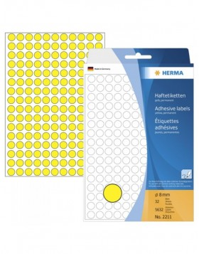 Multi-purpose labels � 8mm yellow 5632 pcs.