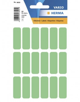 Multi-purpose labels 12x34mm green 90 pcs.