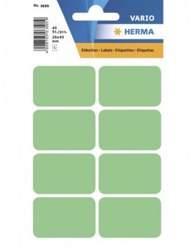 Multi-purpose labels 26x40mm green 40 pcs.