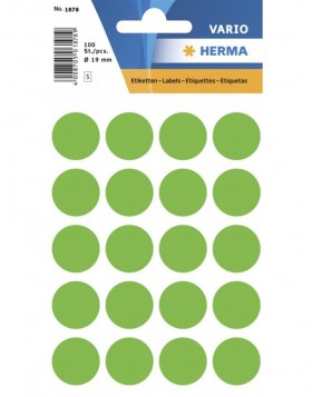 Multi-purpose labels � 19mm luminous green 100 pcs.