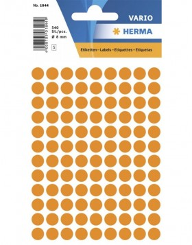 Multi-purpose labels ø 8mm luminous orange 540 pcs.