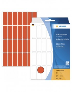 Multi-purpose labels 13x40 red 896 pcs.