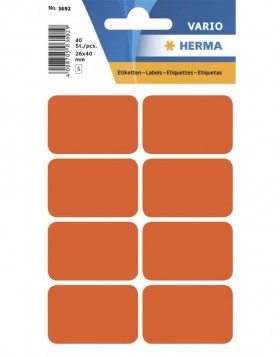 Multi-purpose labels 26x40mm red 40 pcs.