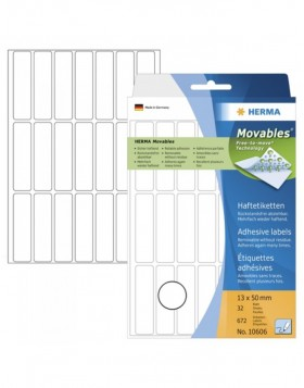 Multi-purpose labels 13x50 mm Movables/removable white...