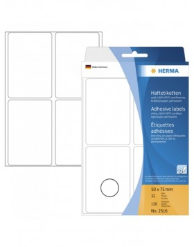 Multi-purpose labels 50x75mm white 128 pcs.