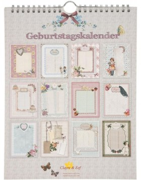 nostalgic birthday calendar German