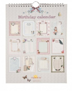 nostalgic birthday calendar English
