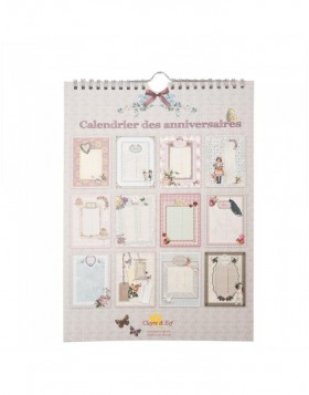 nostalgic birthday calendar French