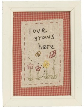 Wandbild 61259 - 15x20 cm Love Grows Here