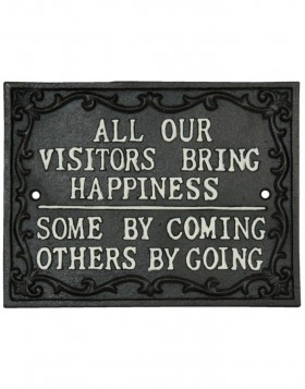 Visitors wall decoration brown - 6Y1595 Clayre Eef