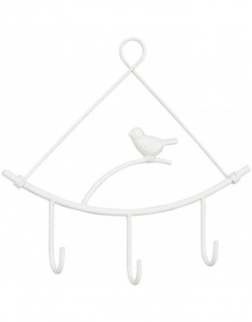 hook Little bird white 24x22 cm