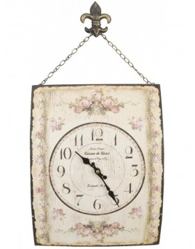 Wall clock with antique rose pattern 30 x 39 cm
