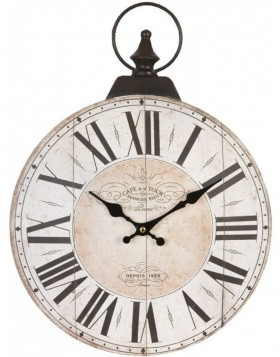 wall clock natural - 6KL0205 Clayre Eef
