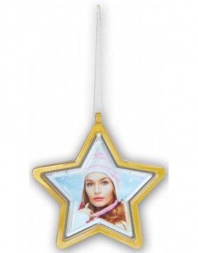 Weihnachts-Anh�nger STAR 6,5x6,5 cm