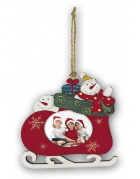 christmas pendant for 1 photo 6x5 cm SLED 1