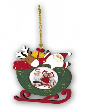 christmas pendant for 1 photo 6x5 cm SLED 3