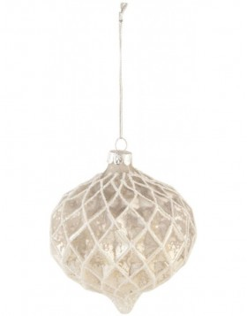 christmas bauble 10 cm white