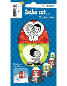 Liebe ist... Magic foil for eggs - 4 sheets