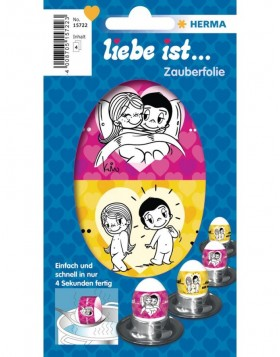 Liebe ist ... stickers with sayings - 2 sheets