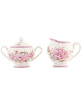 sugar bowl and milk jug Elegant Rose