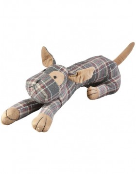 draft stopper DOG 72x17 cm checkered