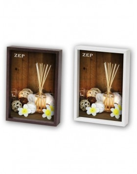 Zurigo photo frame 10x15 cm - 20x30 cm brown and white