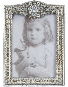antique picture frame 6x9 cm of poly-resin