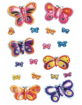 Stickers Enchanting Butterfly - MAGIC, self adhesive
