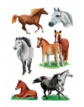 decorative labels Horses II - DECOR