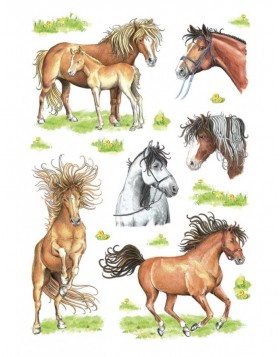 Stickers HORSES - self adhesive, DECOR