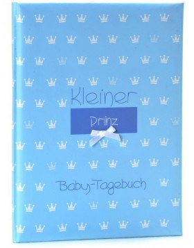Baby diary in blue Kleiner Prinz - little prince