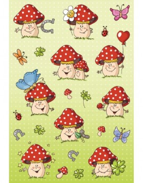 Stickers Happy Toadstool DECOR, self adhesive
