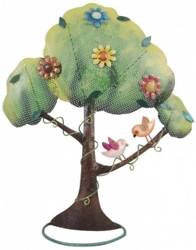 decorative jewelery holder tree with birds 37x14x42 cm