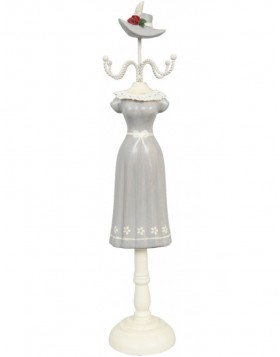 elegant jewelry stand gray with Rose 7x7x37 cm