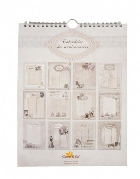 French birthday calendar Vintage designs