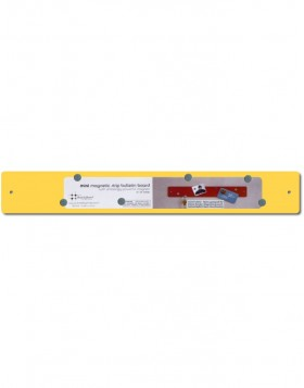 Yellow mini magnetic strip 14x2