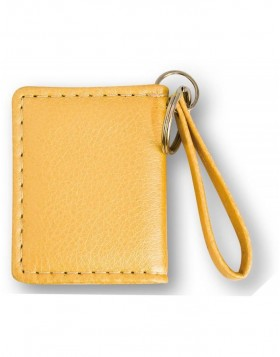 Yellow artificial leather pendant for the key