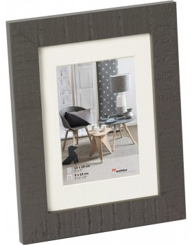 Home wooden frame 10x15 cm grey