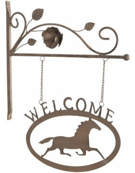 doorplate Welcome/Horse 6Y1372