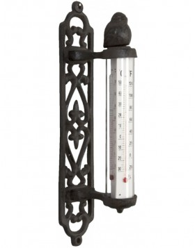 h�bsches Thermometer aus Metall 9x5x26 cm