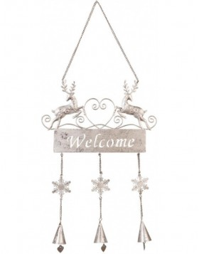 Christmas doorplate Welcome 22x48 cm