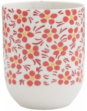 6CEMU0031 Clayre Eef RED BLOSSOM cup - red