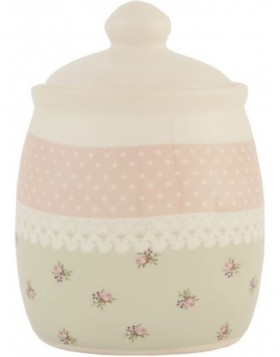 6CE0143 Clayre Eef sugar bowl ? Roses in Pastel - rose