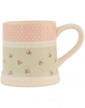 6CE0139 Clayre Eef Becher ? Roses in Pastel - rosa